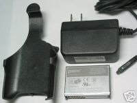 Palm Treo OEM Battery+Holster+AC Travel Charger 650 700 700p 700w 700wx
