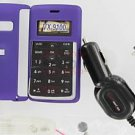 Verizon OEM Car DC Charger+Purple Snap-On Case LG enV2 VX9100