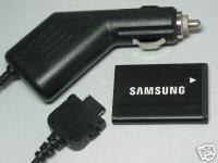 Samsung OEM Battery +Auto Car DC Charger A580 A640 A420 M500 A645 T719 AB553446BA