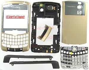 SunCom OEM RIM BlackBerry 8310 Curve Full Housing Case Gold
