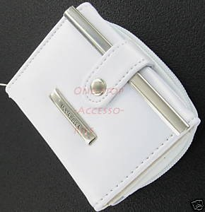 Women's Leather Wallet Purse Credit Card Coin Holder White