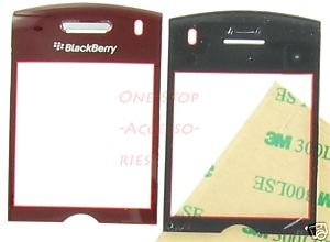 Sprint OEM Blackberry Pearl 8130 Lens LCD Screen Cover Red