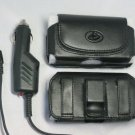 Leather Case+Car Charger Treo 650 680 700 750 755p 700p