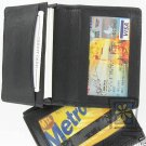 Fine Leather Business Credit Card ID Wallet Holder Case