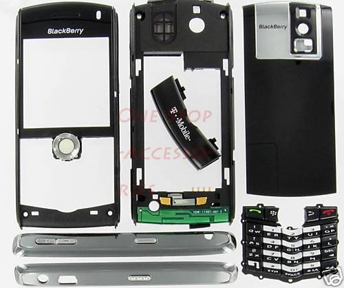T-Mobile OEM Black BlackBerry 8100 Pearl Full Housing