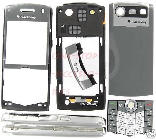 Titanium BlackBerry 8110 8120 Pearl Full Housing Cover