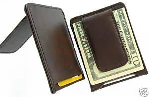 Men's Cow Leather Money Clip Wallet Credit Card Holder