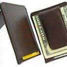 Man's Men Cow Leather Money Clip Wallet Credit Card Holder