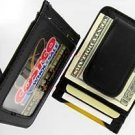 Leather Wallet Magnetic Money Clip Moneybiz Card Holder