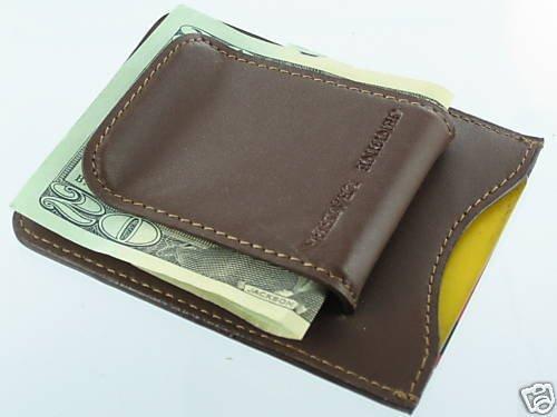 Leather Credit Card ID Cash Holder Wallet Money Clip