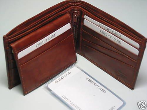 Hand Crafted Fine Leather Bi-fold Men's Man Wallet Card Holder