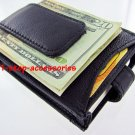 Men's Leather Wallet Money Clip ID Credit Cards Holder B
