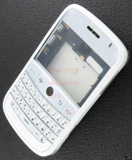 White OEM BlackBerry Bold 9000 Full Housing Case Cover