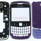 RIM BlackBerry Curve 8530 Complete Full Housing Case Cover Purple