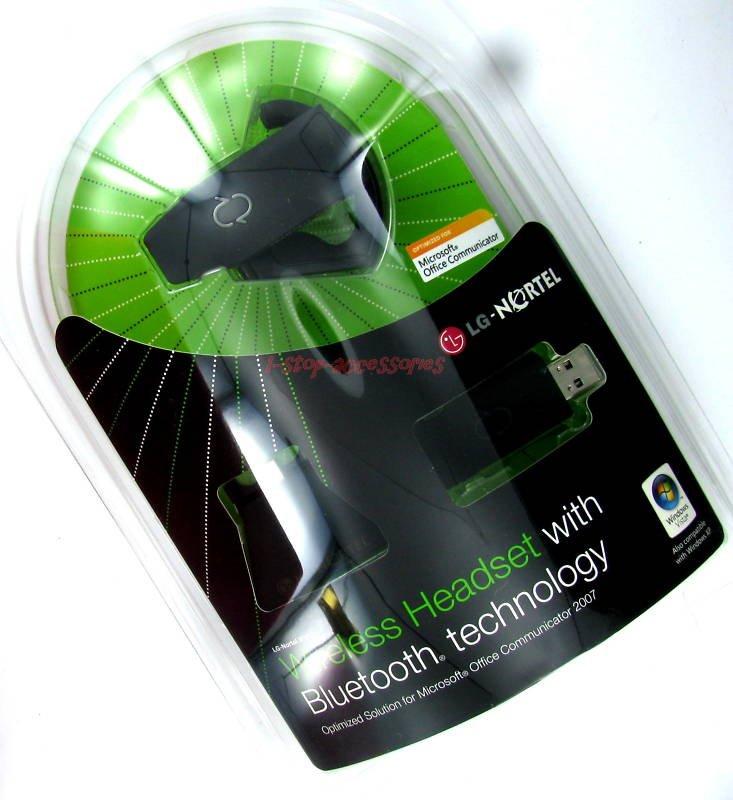LG-Nortel IP8502 Wireless Headset PC&Phones w Bluetooth