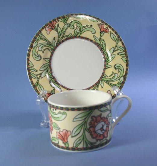Oneida Eden Flat Cup & Saucer Set