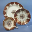 Vintage Paragon Cabinet Cup, Saucer, and Dessert Plate Trio Set Signed HC-E #2