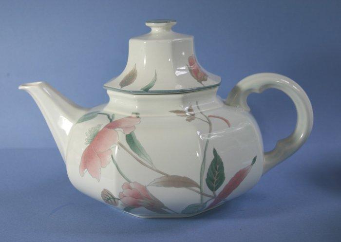 Mikasa China Silk Flowers Teapot & Lid