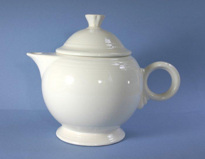 Homer Laughlin Fiesta White (Newer) Teapot & Lid