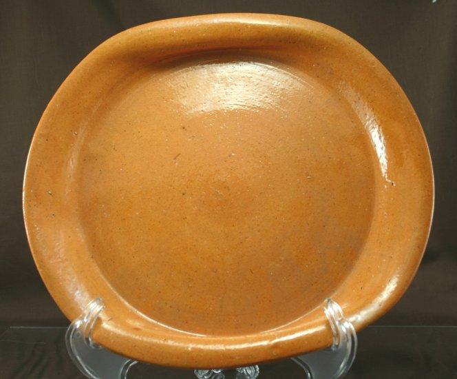 "BEN OWEN SR North Carolina Pottery 11"" Crimped Plater Plate"