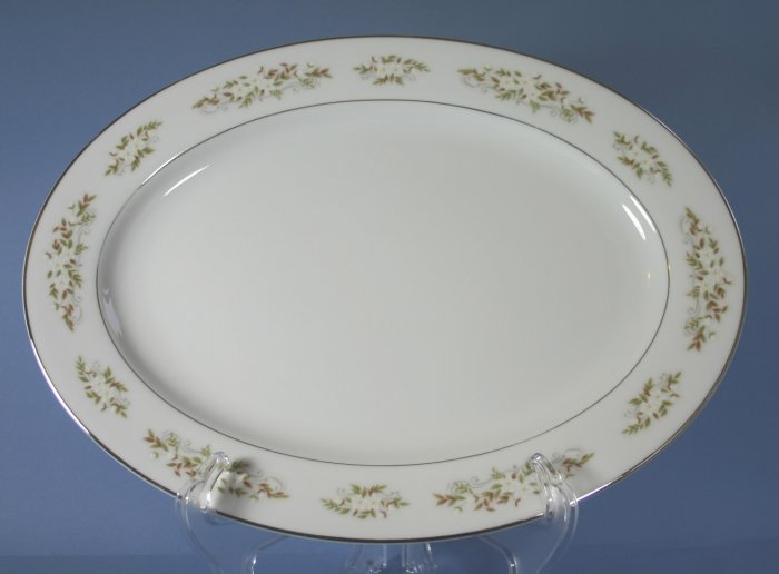 International Springtime Oval Serving Platter - 14 in