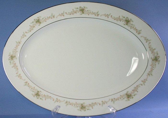 "Sango CAROUSEL 3647 16"" Oval Serving Platter"