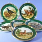 Furstenberg Wild Game Pattern 02948 Set of 6 Coasters