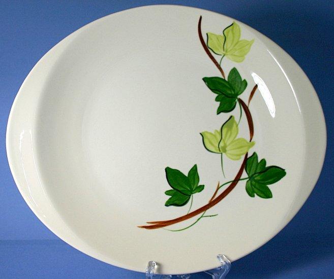 "SPI - Southern Potteries - Blue Ridge Hand Painted #4158 PLANTATION IVY 13"" Oval Serving Platter"