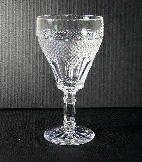 "Hearthside CROSS-HATCH & PANEL DESIGN 6"" Water Goblet"