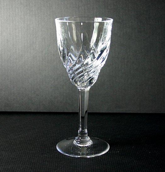 "Val St Lambert Prince-Eveque Torsade 6"" White Wine Glass"
