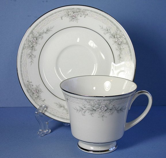 Noritake Sweet Leilani Footed Cup and Saucer
