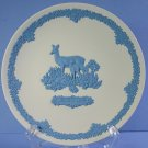 Wedgwood Jasperware 1979 Mother's Day Plate Deer And Fawn