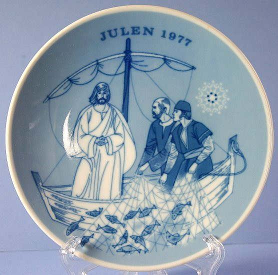 Porsgrund (Norway) 1977 Christmas Plate The Draught Of Fishes
