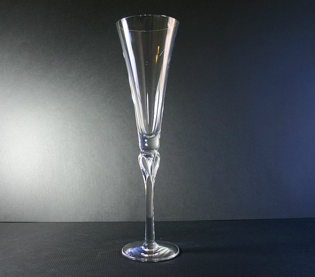 "Lenox Crystal Heart Stem Wedding Promises 11"" Fluted Champagne Glass"