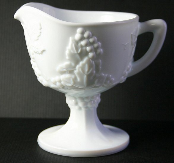 Colony Glass Harvest Milk Footed Creamer