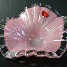 "Mid-Century Murano Italian Art Glass Light Pink 7"" Bon Bon Bowl"