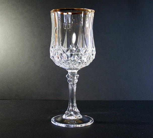 Cristal d 39 arques durand longchamp gold water goblet - Verres cristal d arques longchamp ...
