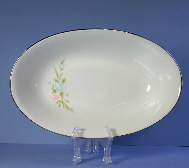 "Sango 6276 Chapel Rose 10"" Oval Vegetable Bowl"