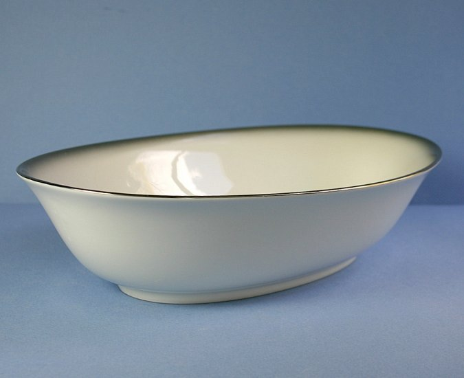 "Sango 6175 Grey Mist 10"" Oval Vegetable Bowl"