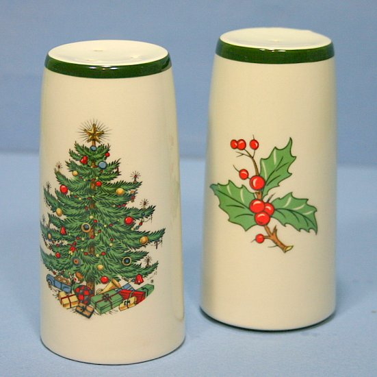 Cuthbertson Christmas Tree (Wide Green Band) Salt & Pepper Set