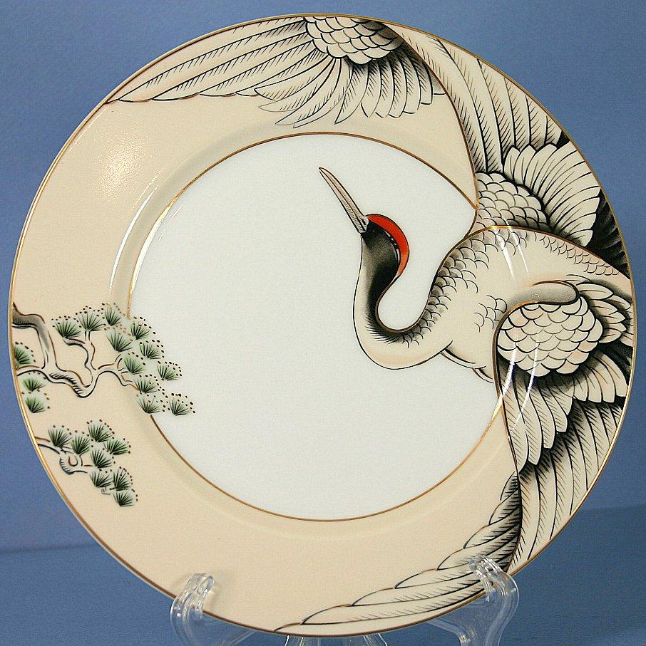 & Fitz u0026 Floyd Crane With Pine Salad Plate