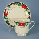 Tienshan Deck The Halls (Verge) Cup and Saucer Set (Footed)