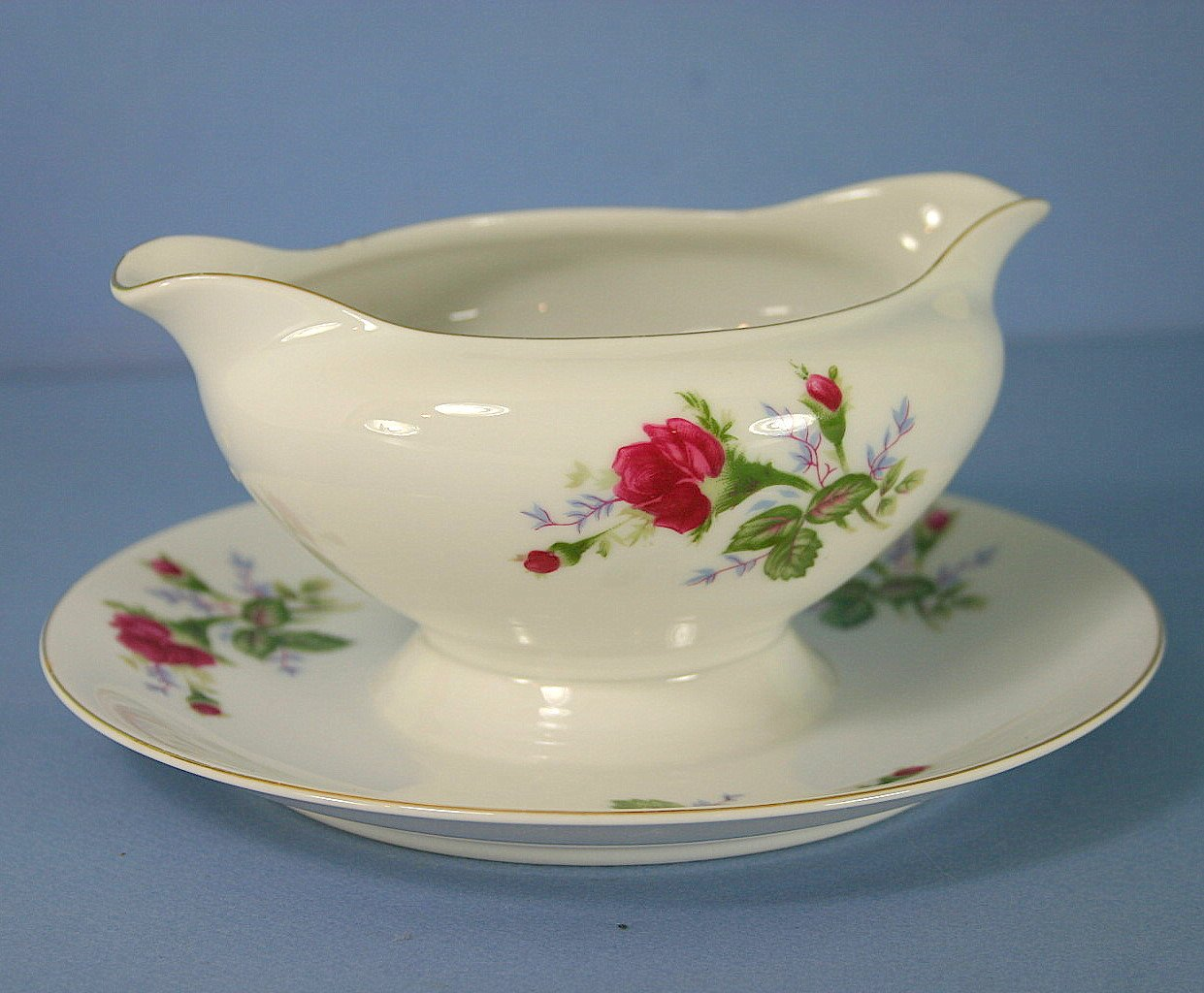 Empress (Japan) Pattern No. 1000 Gravy Boat with Attached Underplate