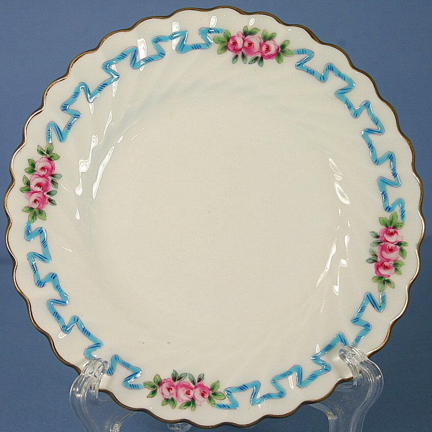 Minton Ribbons & Blossoms (Scalloped) Bread & Butter Plate for Davis Collamore & Co.