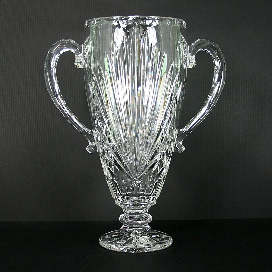 Gorham Cherrywood Clear Handled Vase