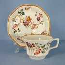 Wedgwood Devon Rose Cup and Saucer Set (Flat)