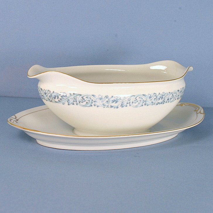 Aichi Sheffield Gravy Boat and Attached Underplate