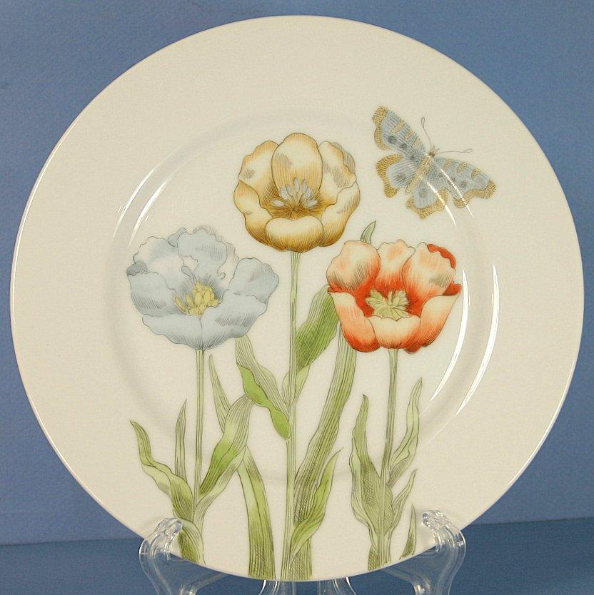 Fitz & Floyd Pastel Poppy Salad Plate