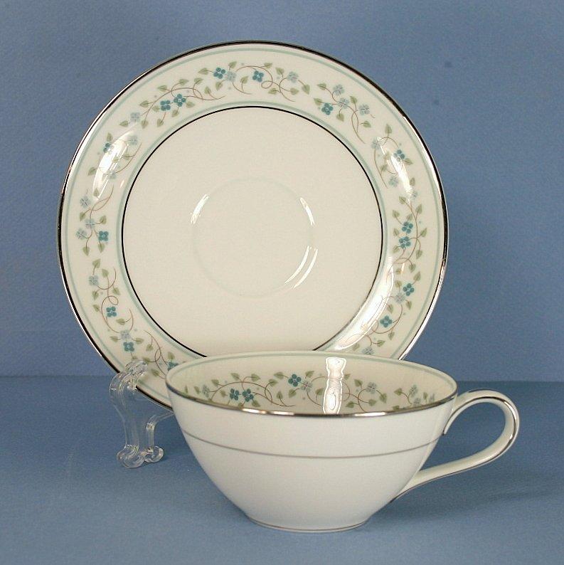 Noritake Marlene Flat Cup and Saucer Set