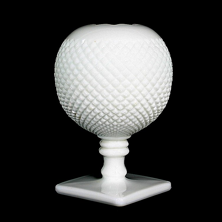 Westmoreland English Hobnail Milk Glass Ivy Ball
